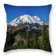 Mount Rainier - Eastside Throw Pillow