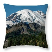 Mount Rainier - Cowilitz Chimneys  Throw Pillow
