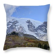 Mount Rainier 3 Throw Pillow