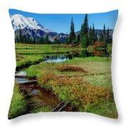 Mount Rainier- Upper Tipsoo Lake Throw Pillow