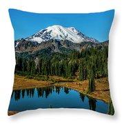Natures Reflection - Mount Rainier Throw Pillow