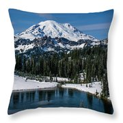 Mount Rainier - Tipsoo Lake Throw Pillow