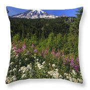 Mount Rainier Throw Pillow