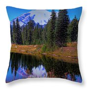 Mount Rainier And Tipsoo Lake Throw Pillow