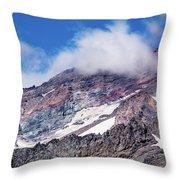 Mount Rainier Closeup Throw Pillow