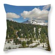 Mount Rainier National Park Tatoosh Range Throw Pillow