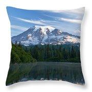 Mount Rainier Reflections Throw Pillow