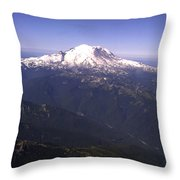 Mount Rainier Washington State Throw Pillow