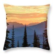 Mount Revelstoke Throw Pillow