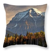 Mount Robson Throw Pillow