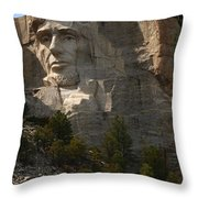 Mount Rushmoore Detail - Abraham Lincoln  Throw Pillow