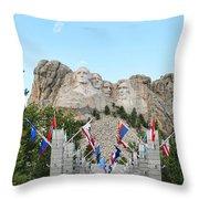 Mount Rushmore Entrance  8713 Throw Pillow
