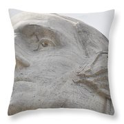 Mount Rushmore George Washington Throw Pillow