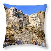 Mount Rushmore Grand View Terrace Throw Pillow