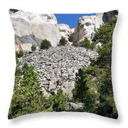 Mount Rushmore II Throw Pillow
