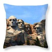 Mount Rushmore In South Dakota Throw Pillow