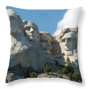 Mount Rushmore Monument Throw Pillow