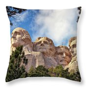 Mount Rushmore National Memorial In The Black Hills Of South Dakota  Throw Pillow by Sam Antonio Photography