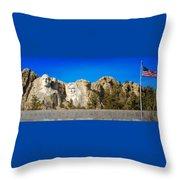Mount Rushmore National Memorial Throw Pillow