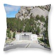 Mount Rushmore National Monument Amphitheater South Dakota Throw Pillow
