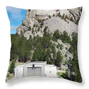 Mount Rushmore National Monument Overlooking Amphitheater South Dakota Throw Pillow