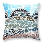 Mount Saint Auto Crush Throw Pillow