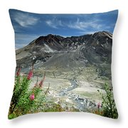 Mount Saint Helens Caldera Throw Pillow