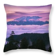 Mount Saint Helens Sunset Throw Pillow
