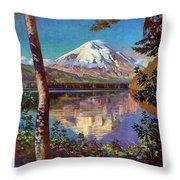 Mount Saint Helens Vintage Travel Poster Restored Throw Pillow