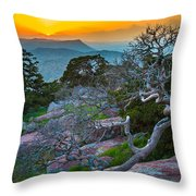 Mount Scott Sunset Throw Pillow