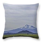 Mount Shasta Majesty Throw Pillow