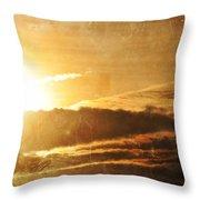 Mount Shasta Sunrise Throw Pillow