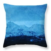 Mount Shasta Twilight Throw Pillow
