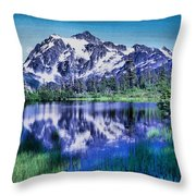 Mount Shuksan And Picture Lake Throw Pillow