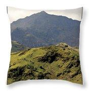 Mount Snowdon Throw Pillow