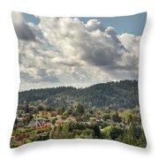 Mount Talbert In Happy Valley Oregon Throw Pillow