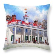 Mount Vernon After The Squall Throw Pillow