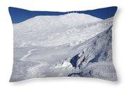 Mount Washington - White Mountain New Hampshire Usa Winter Throw Pillow