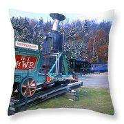 Mount Washington Cog Railway Throw Pillow