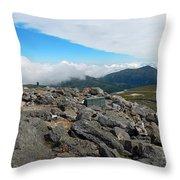 Mount Washington Observatory Throw Pillow
