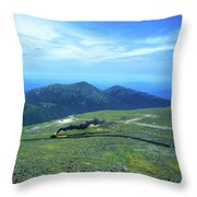 Mount Washington Summit Cog Railroad Throw Pillow