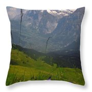 Mount Wetterhorn And The Grindelwald Throw Pillow