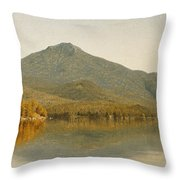 Mount Whiteface From Lake Placid Throw Pillow by Albert Bierstadt