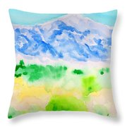 Mount Whitney Throw Pillow
