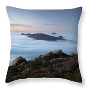 Mount Woodson Above Clouds Throw Pillow