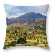 Mount Zeehan Valley Town. West Tasmania Australia Throw Pillow
