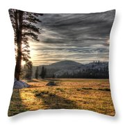 Mountain Afternoon Throw Pillow
