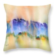 Mountain And Hill Abstract Throw Pillow
