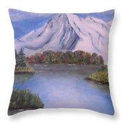 Mountain And Lake Throw Pillow