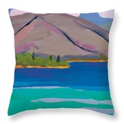 Mountain And Pines Throw Pillow